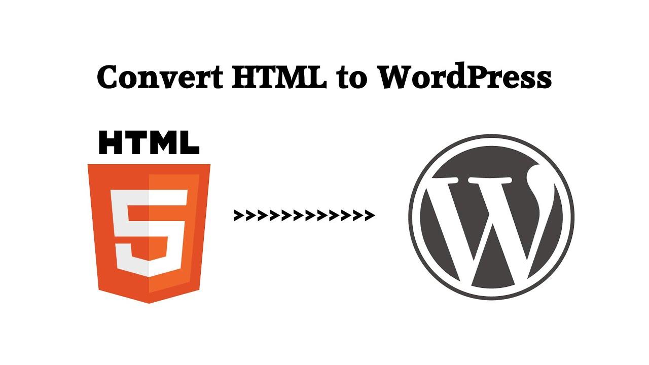 convert html template to wordpress theme online free