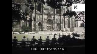 1950s coach trip through Rhine Valley and Cologne, Germany