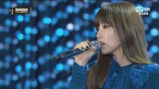 "161202 TAEYEON 태연 (SNSD 소녀시대) ""RAIN"" performance Mnet Asian Music Awards - MAMA 2016"