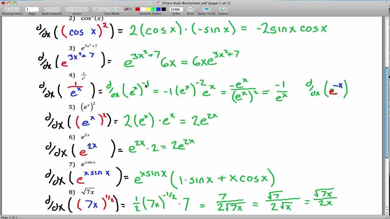 chain rule worksheet - YouTube