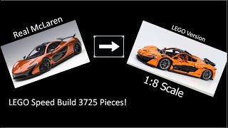 Lepin 20087 Technic Car (McLaren) Speed Build (3725 Pieces) 1:8 scale