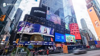 BIGO LIVE - Top Broadcasters are on the Times Square Billboard!