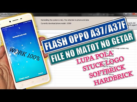 Flash Oppo A37 Lupa PIN / Pola Kunci Layar.