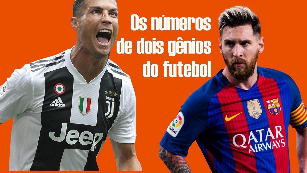 3d62cbddff Cristiano Ronaldo e Messi veja os números de dois gênios do futebol ...