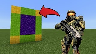 How To Make a Portal to the Halo Dimension in MCPE (Minecraft PE)