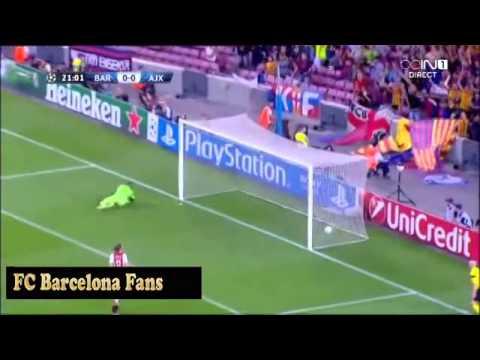 gol de messi | Barcelona 1 Ajax 0 | 18/09/13