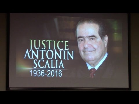Justice Antonin Scalia memorial service, Campbell University Law School