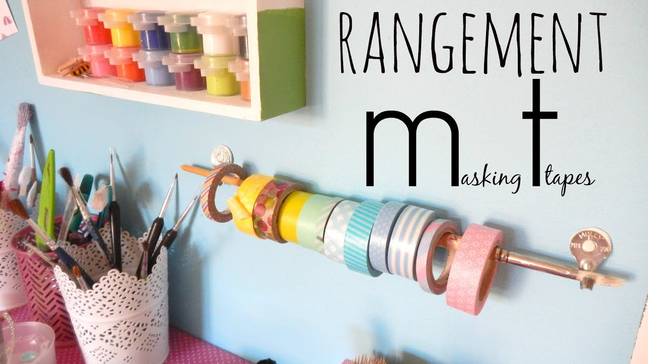 diy un rangement masking tapes youtube. Black Bedroom Furniture Sets. Home Design Ideas
