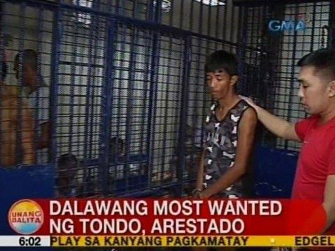 UB: 2 most wanted ng Tondo, Manila, arestado