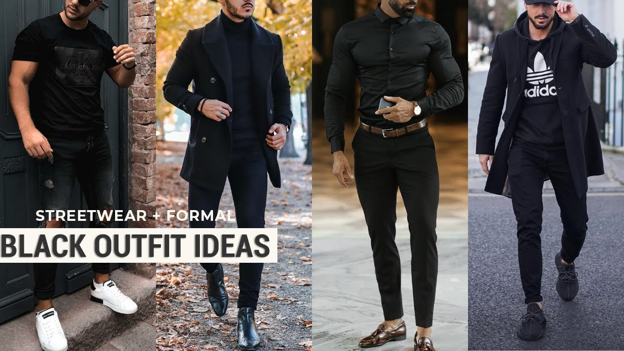 picture Black Style Formal Black Style Shirts For Men black outfit ideas for men streetwear formal black shirt men fashion black style