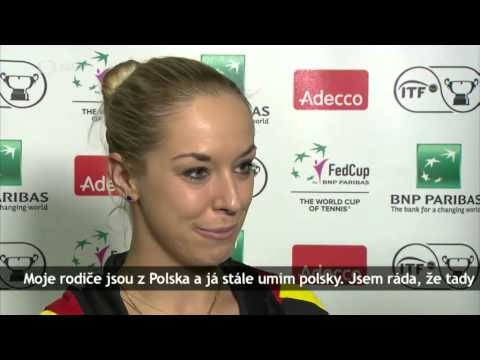Angelique Kerber and Sabine Lisicki speak polish + Andrea Pe