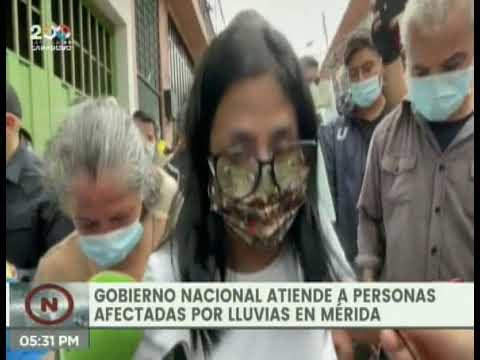 Gobierno Nacional atiende a las familias del Estado Mérida afectadas por las lluvias