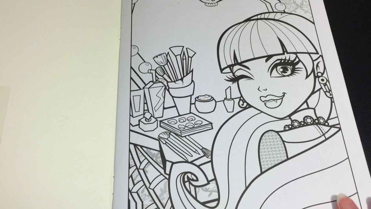 Coloring Time Ep. #3: Monster High Draculaura Speed Coloring Page ...