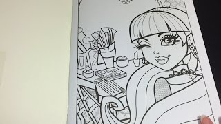 Coloring Time Ep. #3: Monster High Draculaura Speed Coloring Page Crayola
