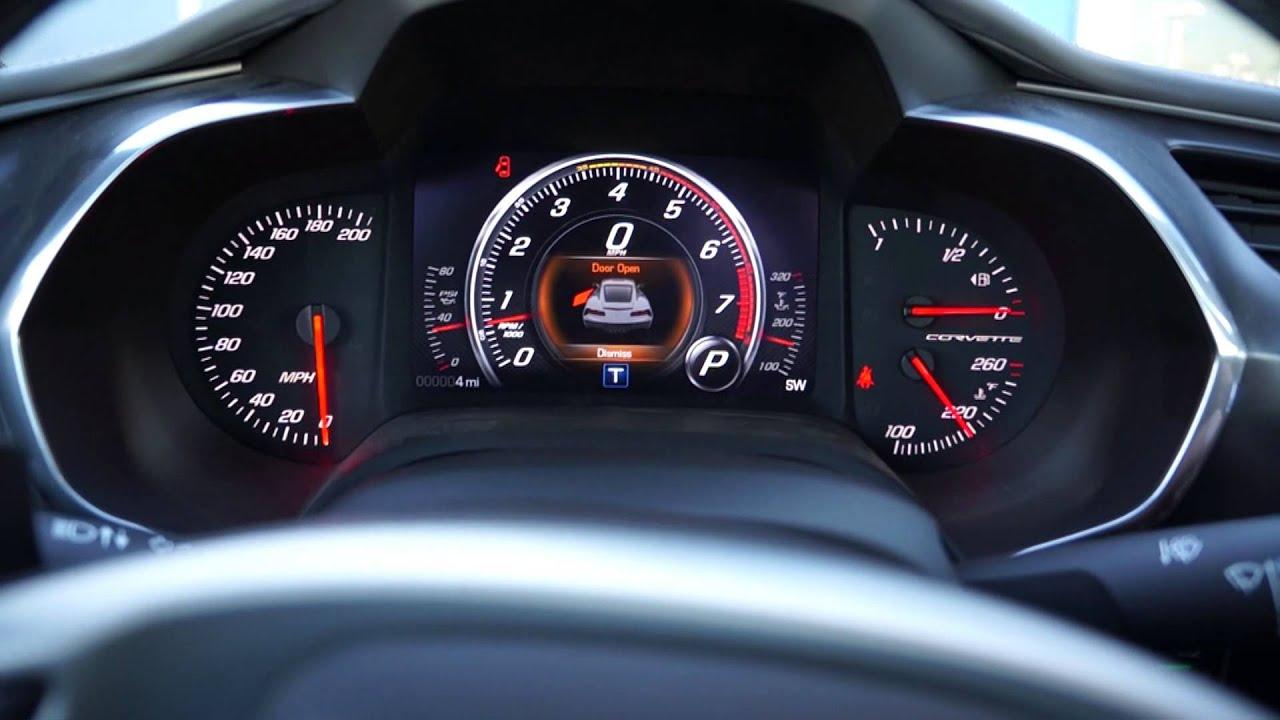 2014 chevrolet corvette stingray review youtube - 2014 Chevrolet Corvette Stingray Start Up And Interior View Including Navigation Youtube