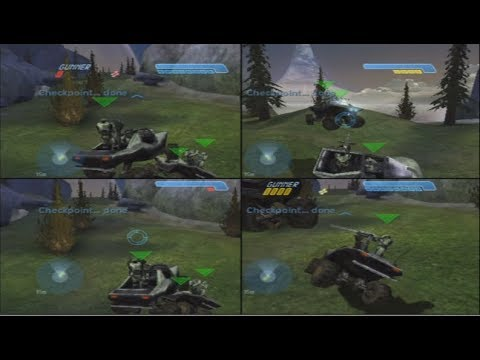 Halo CE 4-Player Split-Screen Co-Op Playthrough on Legendary (Xbox)
