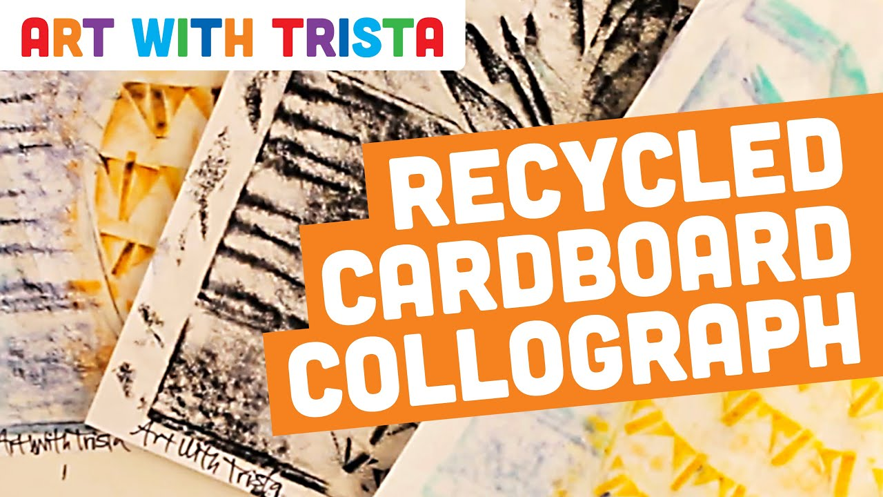Art With Trista - Recycled Cardboard Collograph - YouTube