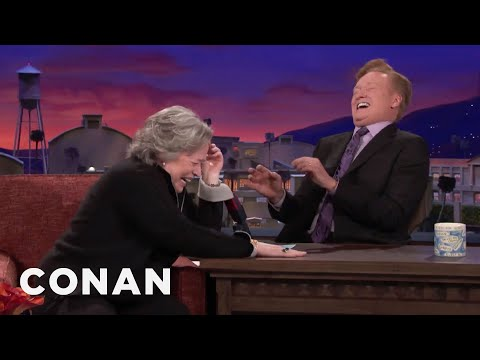 Kathy Bates Teaches Conan How To Act Stoned   CONAN on TBS