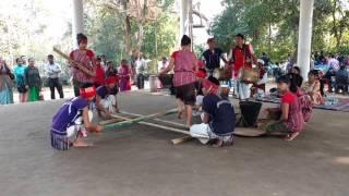 Asamese bihu dance, bamboo dance