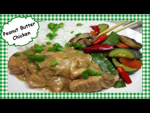 Easy Slow Cooker PEANUT BUTTER CHICKEN ~ Crock Pot Chicken Recipe