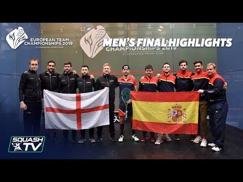 Squash: England v Spain - European Team Championship 2019 - Final Highlights