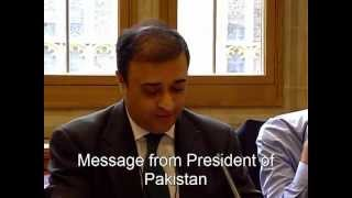 Message from The President of Pakistan, Mr.Asif Ali Zardari 4th Syeda Fatima Conf at House of Lords