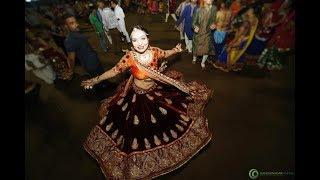 Drone view Live Garba Gandhinagar GCF Navli Navratri 2017: Day 5 Golden Cheers