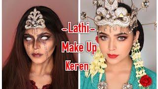 Download KEREN ABIS LATHI MAKEUP CHALLANGE || JHARNA BHAGWANI cover Weirdgenius - LATHI Viral