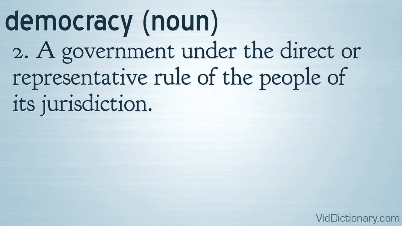 what definition representative democracy