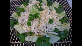 Салат из блинов ,курицы,картошки. Очень вкусно и просто. Салаты / Закуска.