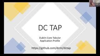 DC Tabular Application Profiles  open Zoom meeting