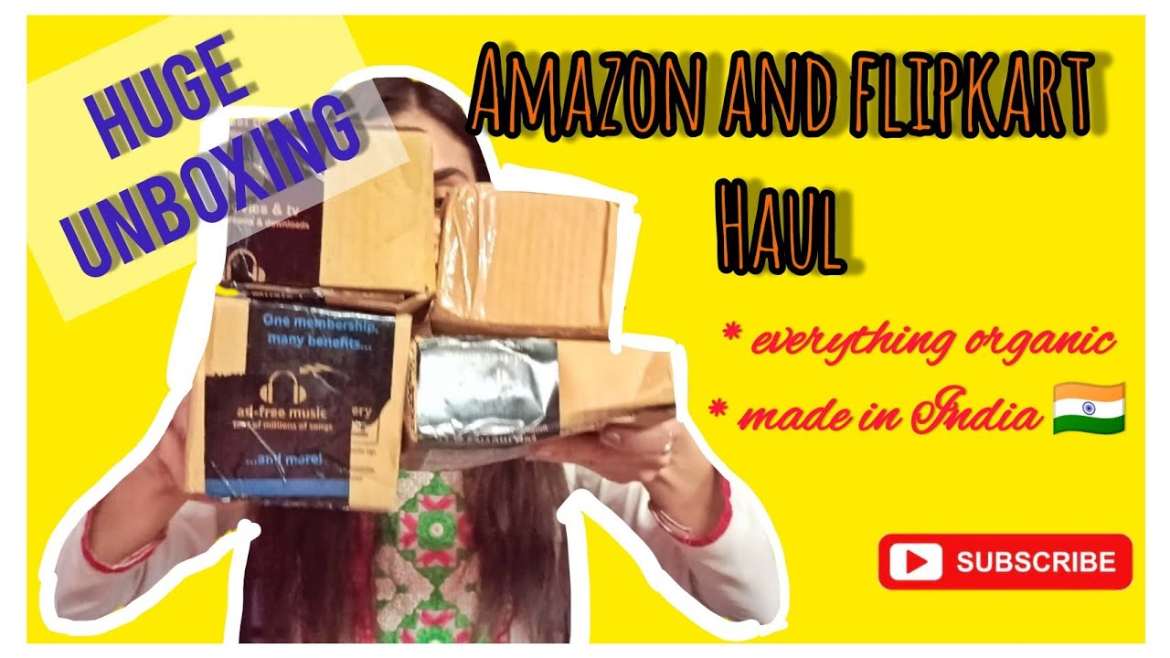 Amazon and flipkart Unboxing | Organic hair and skin care products | Indian products only