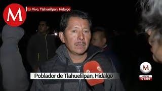 Pobladores intentan ingresar a zona de explosión en Hidalgo