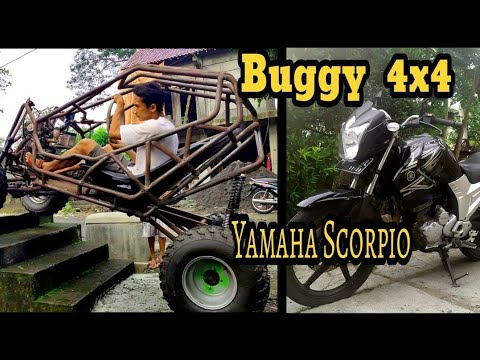 Yamaha Scorpio Jadi Buggy 4x4 // Transformation  Motorcycle  To Buggy 4 Wd// Pubg