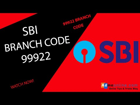 SBI Branch Code 99922 | State Bank Of India Branch Code 99922 Address Location