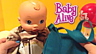 Making Baby Alive Wets n Wiggles Boy Doll a Diaper Bag with the Sew Cool Sewing Machine