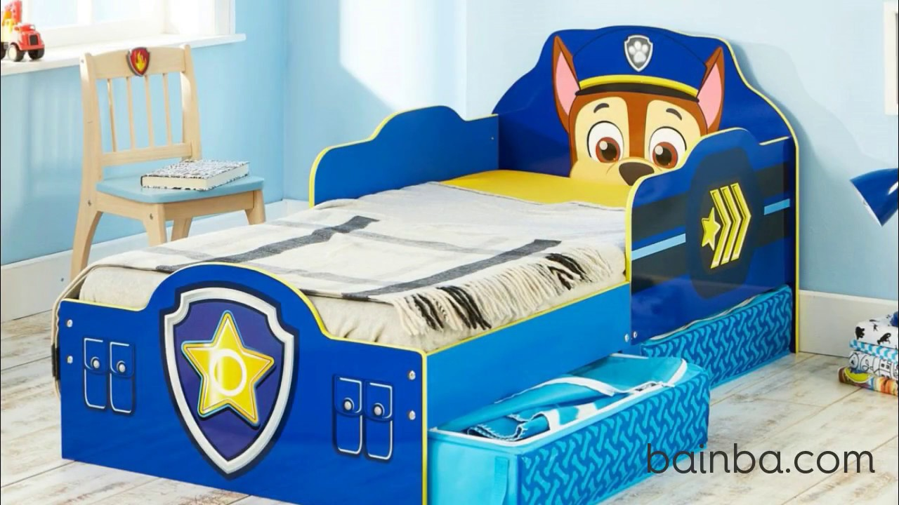 cama infantil patrulla canina con cajones youtube