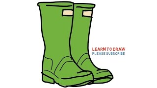 Easy Step For Kids How To Draw a Wellington Boot