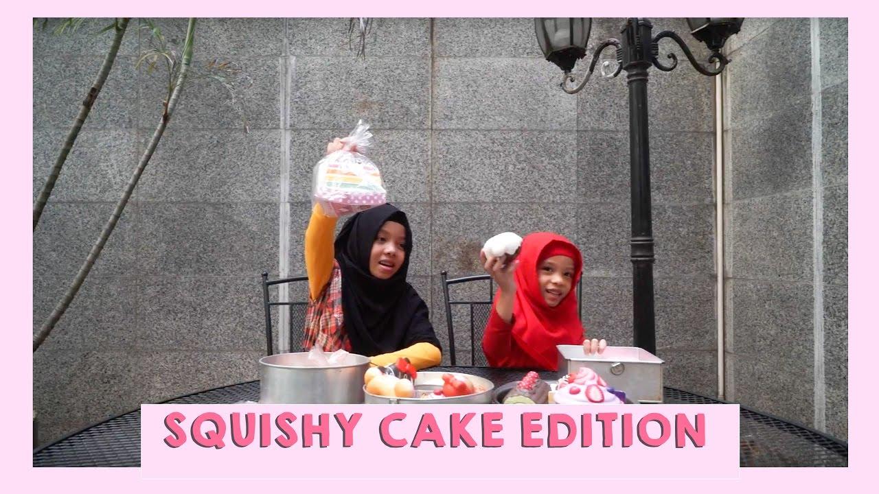 Squishy Gen Halilintar : SQUISHY CAKE EDITION WITH FATIMAH HALILINTAR FT MOM - YouTube