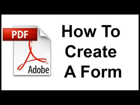 Creating a Fillable Form from Scratch Using Adobe Acrobat thumbnail