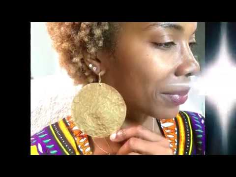 How to Make/DIY Large Hammered Disc Earrings
