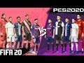 FIFA 20 vs. PES 2020: TOP 100 PLAYERS (Appearance & Ratings) 4K