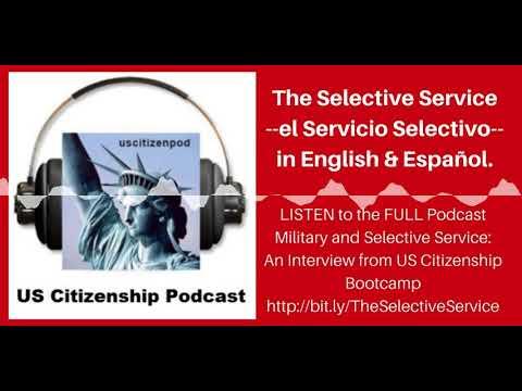 The Selective Service / el Servicio Selectivo in English and Español