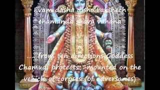 Devi Kavacham (The Armour -- the many forms of the Goddess Durga) -- with English translation