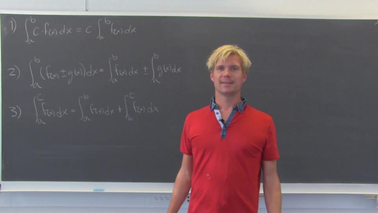 Bevis for regneregler for bestemte integraler