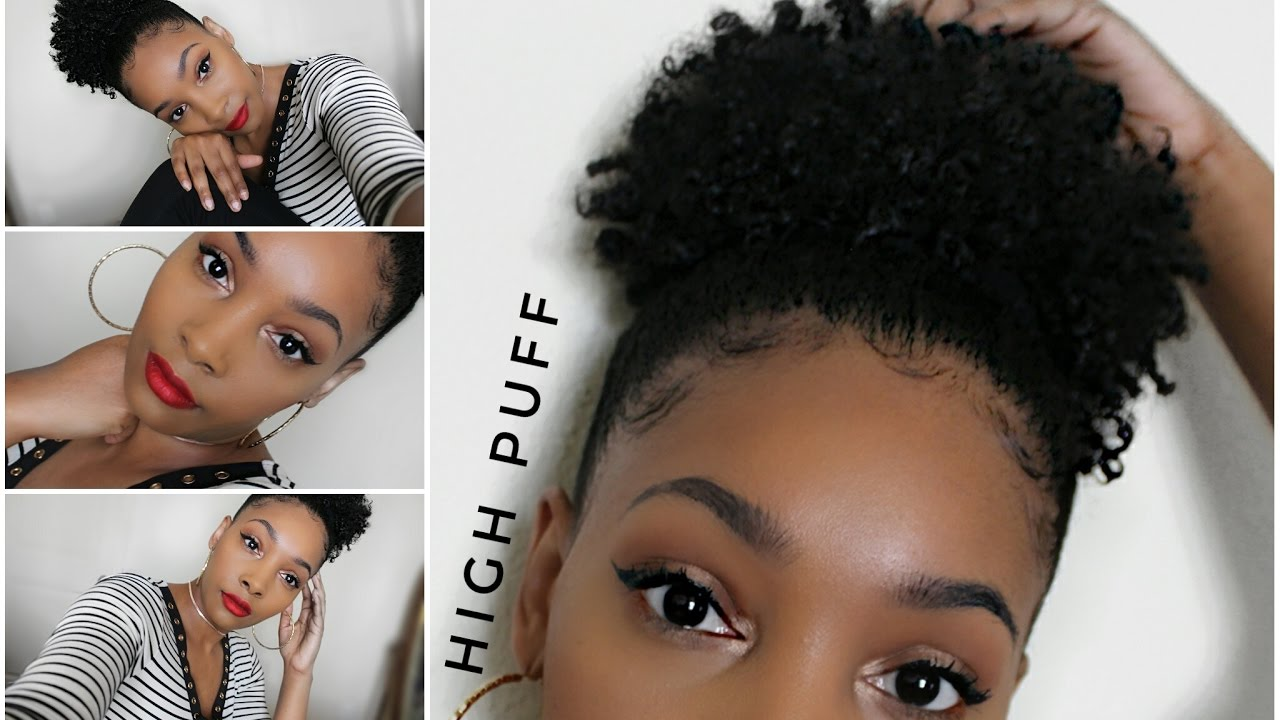 high puff type 4 natural hair