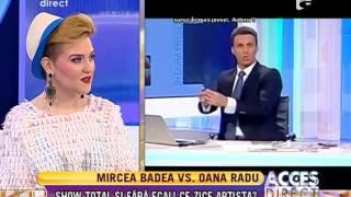Mircea Badea vs. Oana Radu! Show total si fara egal! Ce zice artista