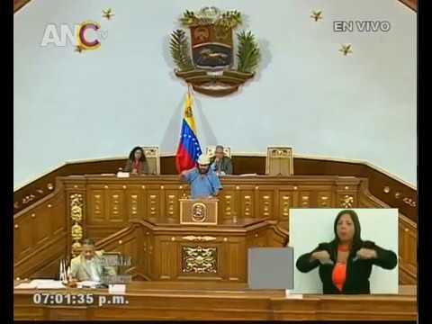 Gino González, discurso ante la ANC por la Constituyente de la Identidad Cultural