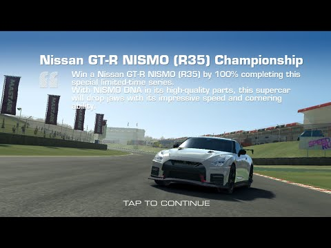 Real Racing 3 Nissan GT-R NISMO (R35) Championship Series Overview & Upgrade Scheme