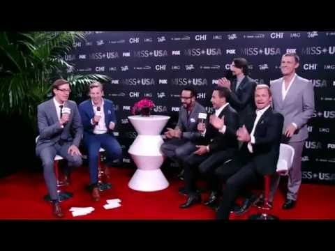 Miss USA Live Stream Red Carpet Interview - Backstreet Boys